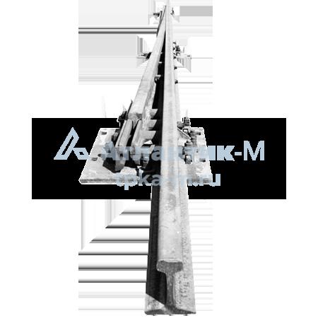 Рельсы рамные с остряком 1/11 Р-50 на железобетонных шпалах б/у