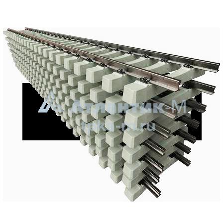 Рельсошпальная решетка Р-50 на деревянных шпалах