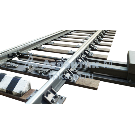 Стрелочный перевод 1/11 Р-50 на железобетонных брусьях резерв